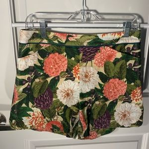 Anthropologie Floral Hydrangea Shorts Size 6